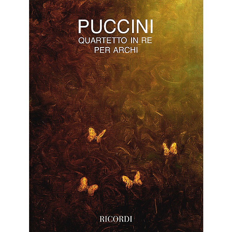 RicordiString Quartet in D (Full Score) String Series Composed by Giacomo Puccini