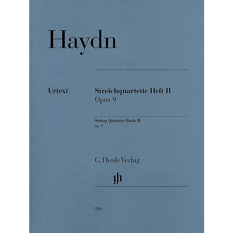 G. Henle VerlagString Quartets - Volume II Op. 9 Henle Music Folios Series Softcover Composed by Joseph Haydn