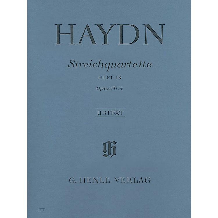 G. Henle VerlagString Quartets - Volume IX Op. 71 and 74 (Appony-Quartets) Henle Music by Franz Josef Haydn