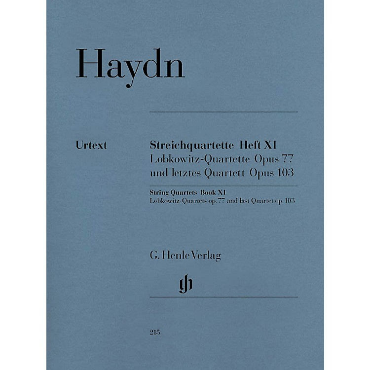 G. Henle VerlagString Quartets - Volume XI Op. 77 and Op. 103 Henle Music Folios Series Softcover by Franz Josef Haydn