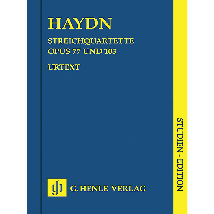 G. Henle VerlagString Quartets - Volume XI Op. 77 and Op. 103 Henle Study Scores Series Softcover by Franz Joseph Haydn