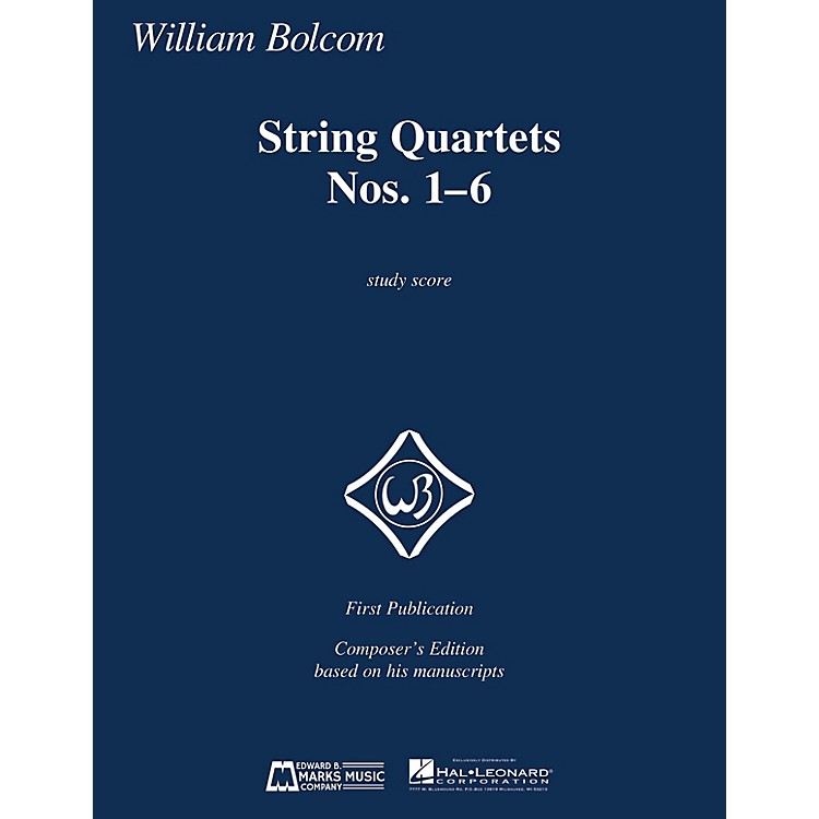 Edward B. Marks Music CompanyString Quartets Nos. 1-6 (Study Score) E.B. Marks Series Softcover Composed by William Bolcom
