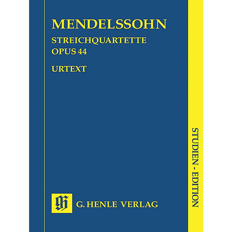 G. Henle VerlagString Quartets Op. 44, No. 1-3 (Study Score) Henle Study Scores Series Softcover by Felix Mendelssohn