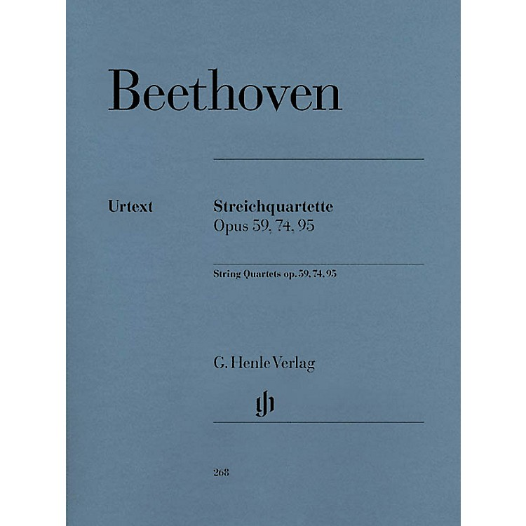 G. Henle Verlag String Quartets Op. 59, 74, 95 Henle Music Folios Series Softcover Composed by Ludwig van Beethoven