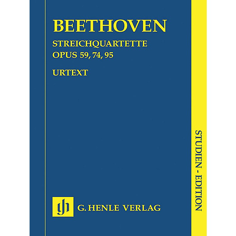 G. Henle VerlagString Quartets Op. 59, 74, 95 (Study Score) Henle Study Scores Series Softcover by Ludwig van Beethoven