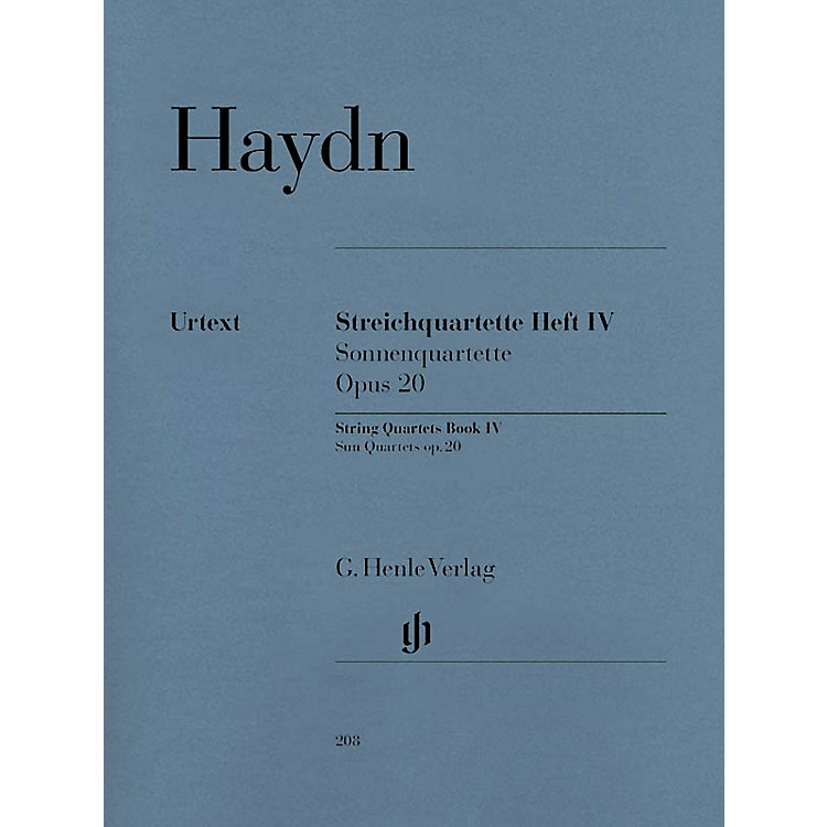 G. Henle VerlagString Quartets, Vol. IV, Op. 20 (Sun Quartets) Henle Music Folios Series Softcover by Franz Josef Haydn
