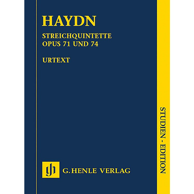 G. Henle Verlag String Quartets, Vol. IX, Opus 71 and 74 Henle Study Scores by Haydn Edited by Saslav, Feder