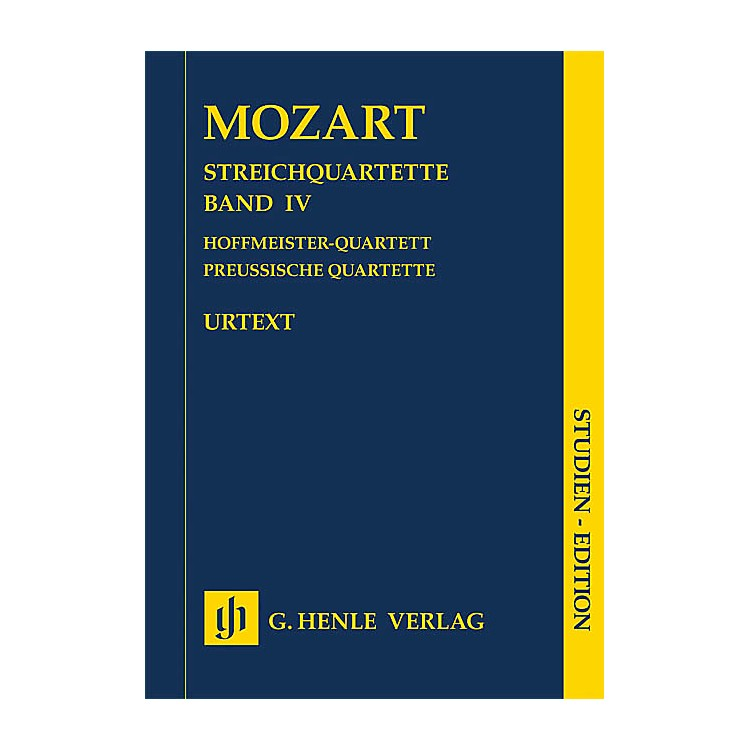 G. Henle VerlagString Quartets Volume Iv (4) Study Score Henle Study Scores Series Softcover by Wolfgang Amadeus Mozart