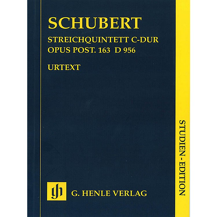 G. Henle VerlagString Quintet C Major Op. Posth. 163 D 956 Henle Study Scores Series Softcover by Franz Schubert