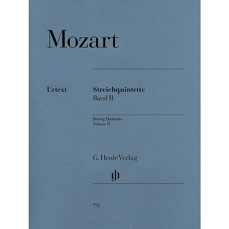G. Henle VerlagString Quintets - Volume II (Parts) Henle Music Folios Series Softcover by Wolfgang Amadeus Mozart