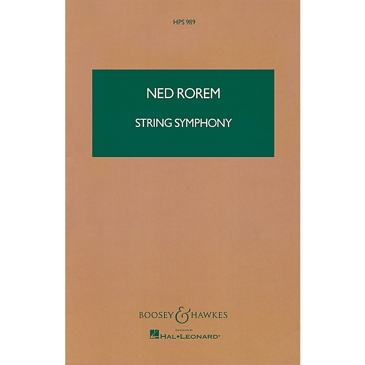 Boosey and HawkesString Symphony (Study Score) Boosey & Hawkes Scores/Books Series Composed by Ned Rorem