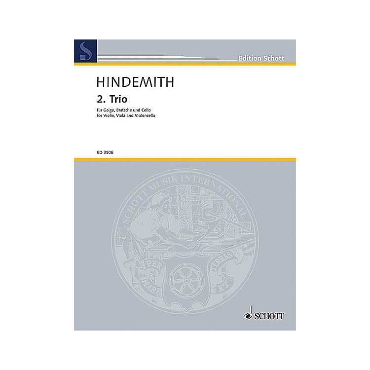 Schott MusicString Trio No. 2 (1933) (Study Score) Schott Series Composed by Paul Hindemith
