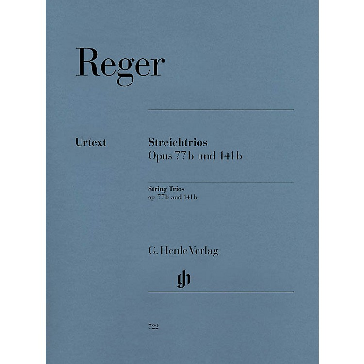 G. Henle VerlagString Trios A minor Op. 77b and D minor Op. 141b Henle Music Folios Series Softcover by Max Reger