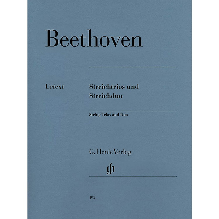 G. Henle Verlag String Trios Op. 3, 8, and 9 and String Duo WoO 32 Henle Music Folios Softcover by Ludwig van Beethoven