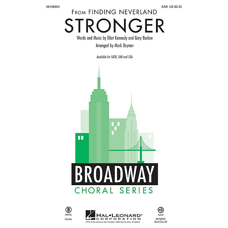 Hal Leonard Stronger (from Finding Neverland) SAB arranged by Mark Brymer