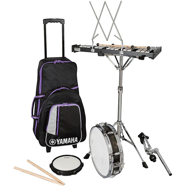 Yamaha student combination percussion kit with rolling for Yamaha student bell kit with backpack and rolling cart