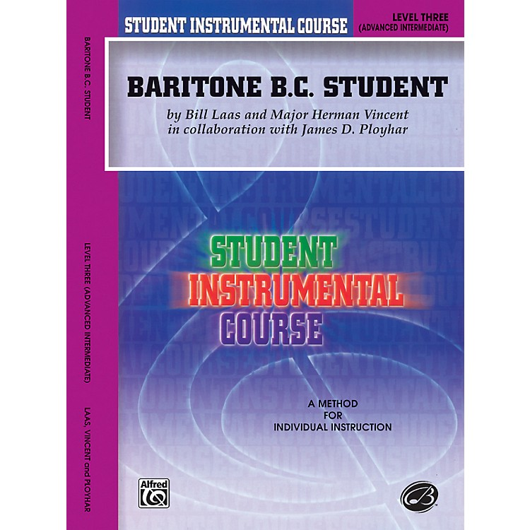 AlfredStudent Instrumental Course Baritone (B.C.) Student Level 3 Book