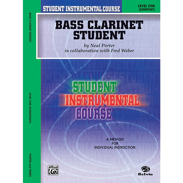 AlfredStudent Instrumental Course Bass Clarinet Student Level 1 Book