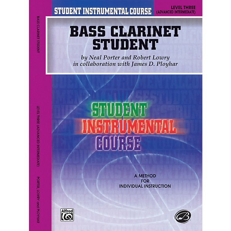 AlfredStudent Instrumental Course Bass Clarinet Student Level 3 Book
