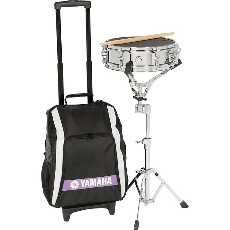 yamaha student snare drum kit with backpack and rolling cart music123. Black Bedroom Furniture Sets. Home Design Ideas