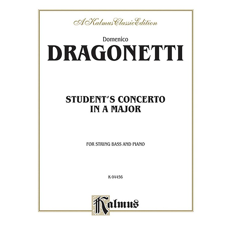 Alfred Student's Concerto in A Major for String Bass By Domenico Dragonetti Book