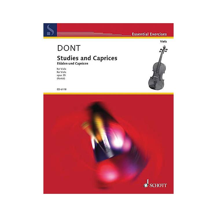 SchottStudies and Caprices (Viola Solo) Schott Series Softcover