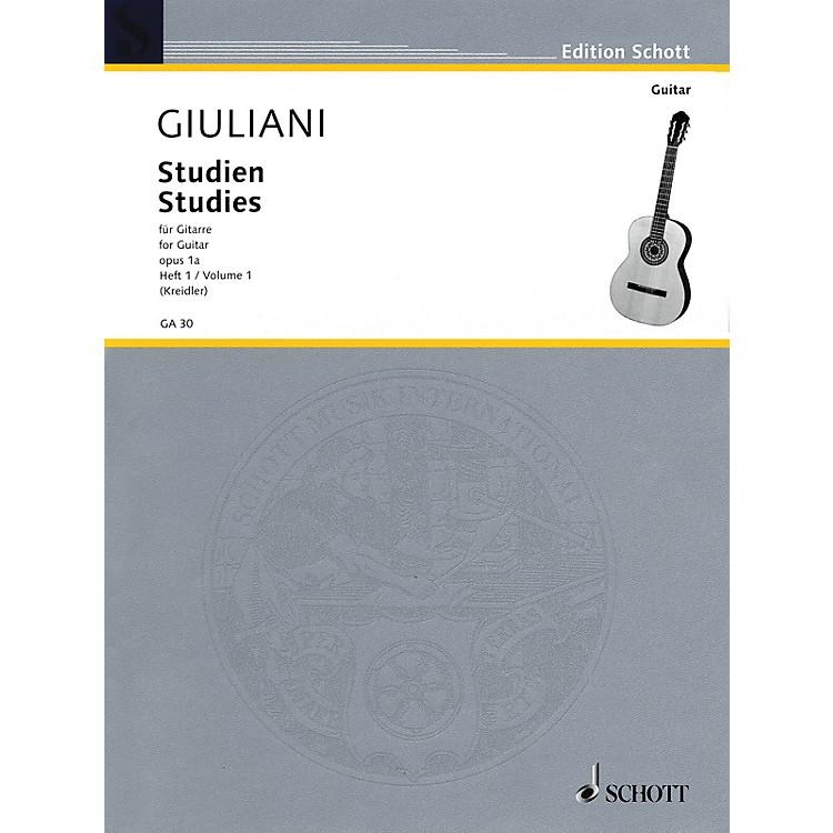 SchottStudies for Guitar, Op. 1a - Volume 1 Schott Series Softcover