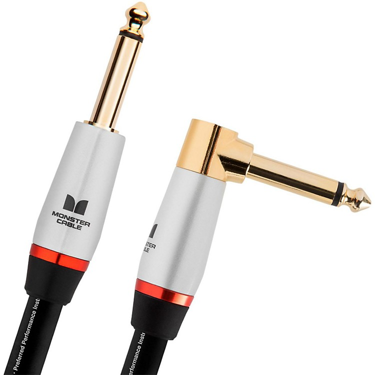 Monster CableStudio Pro 2000 1/4 Inch  Angled to Straight Instrument Cable12 ft.