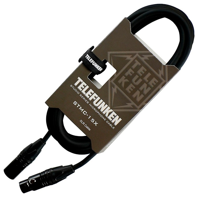 TelefunkenStudio Series Premium XLR Mic Cable3 ft.Black