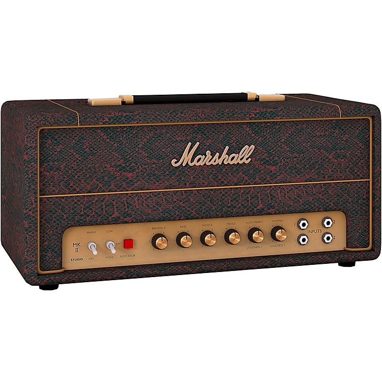 MarshallStudio Vintage SV20H 20W Tube Guitar Amp HeadBlack and Red Snakeskin