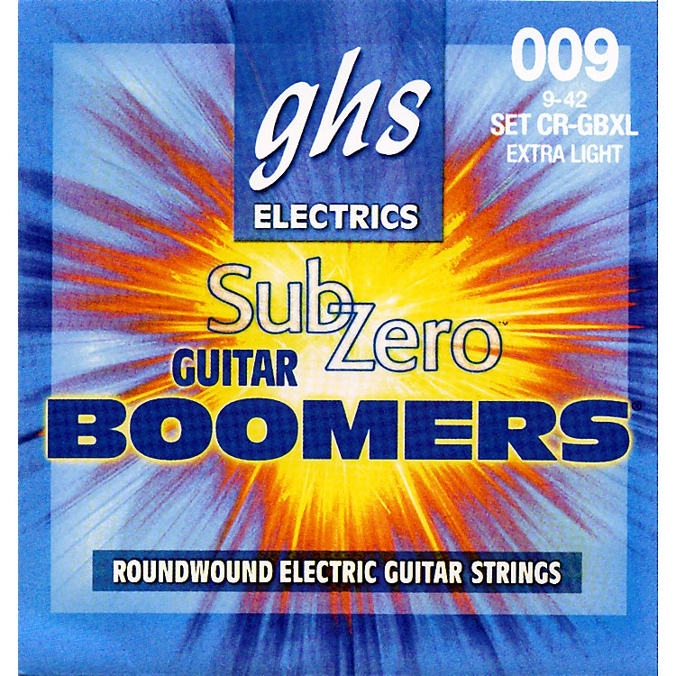 GHS Sub-Zero Guitar Boomers Electric Guitar Strings - Extra Light