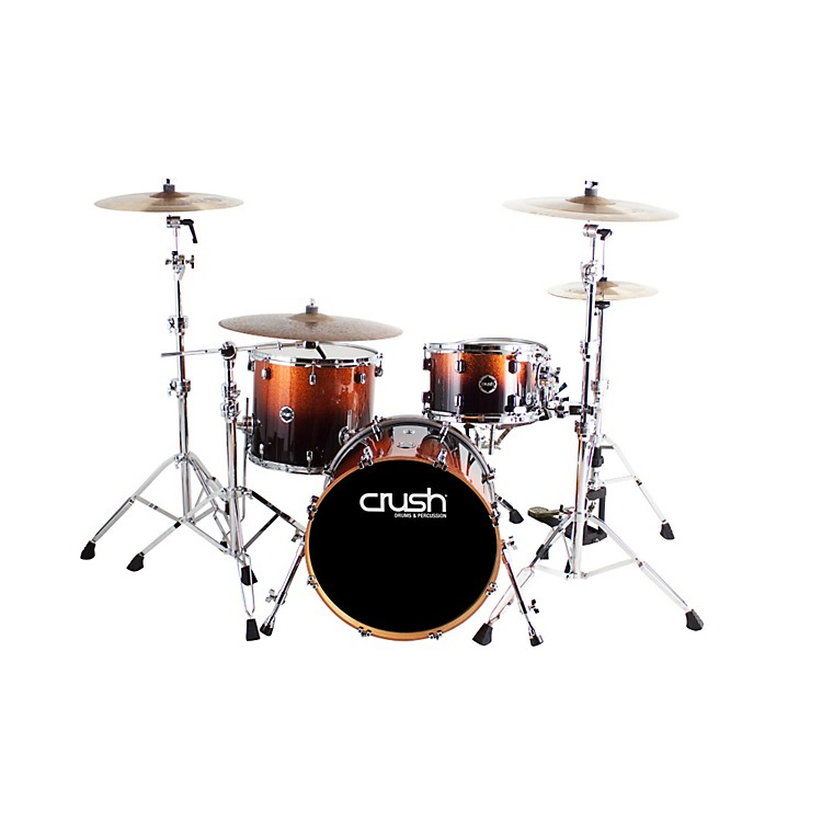 Crush Drums & Percussion Sublime E3 Maple 4-Piece Shell Pack High Gloss Lacquer with 20 Inch Bass Drum