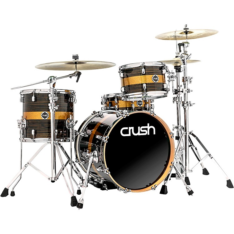 Crush Drums & Percussion Sublime ST Maple 3-Piece Shell Pack with 18 in. Bass Drum Gold Crush