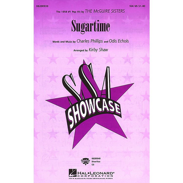 Hal LeonardSugartime ShowTrax CD by McGuire Sisters Arranged by Kirby Shaw