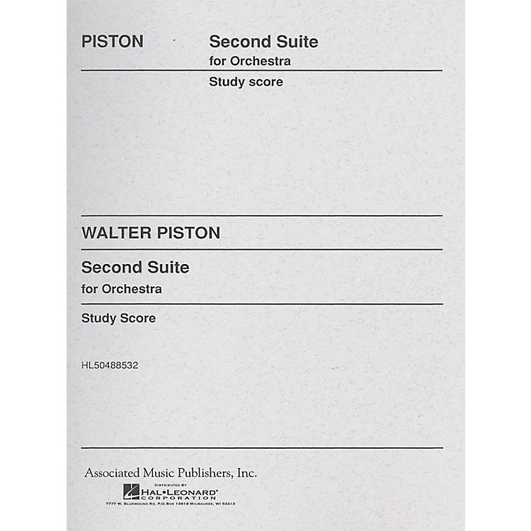 AssociatedSuite No. 2 for Orchestra (Full Score) Study Score Series Composed by Walter Piston