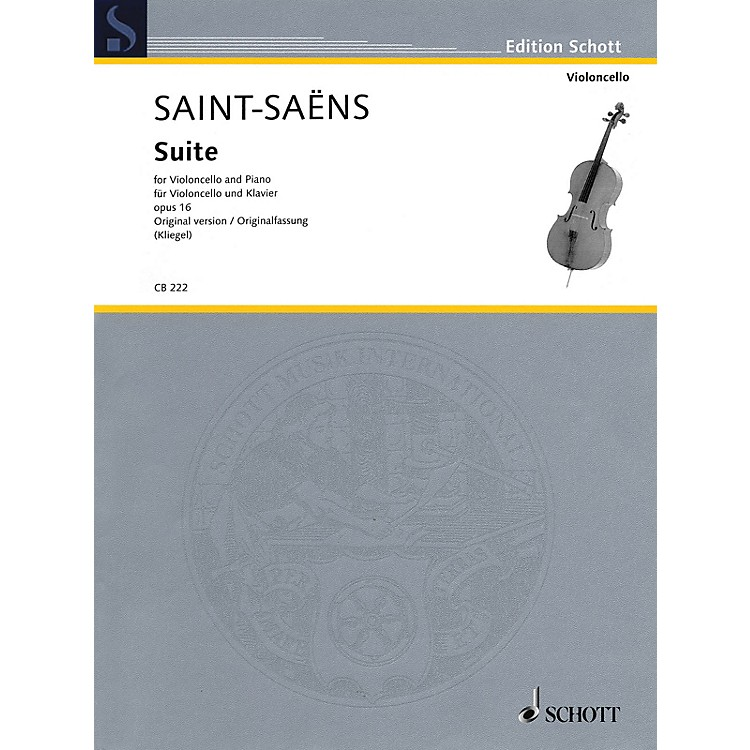 SchottSuite, Op. 16 Schott Series Softcover Composed by Camille Saint-Saëns Edited by Maria Kliegel