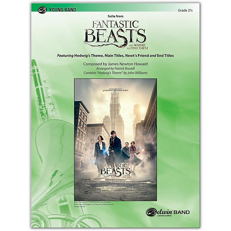 BELWINSuite from Fantastic Beasts and Where to Find Them 2.5 (Easy to Medium Easy)