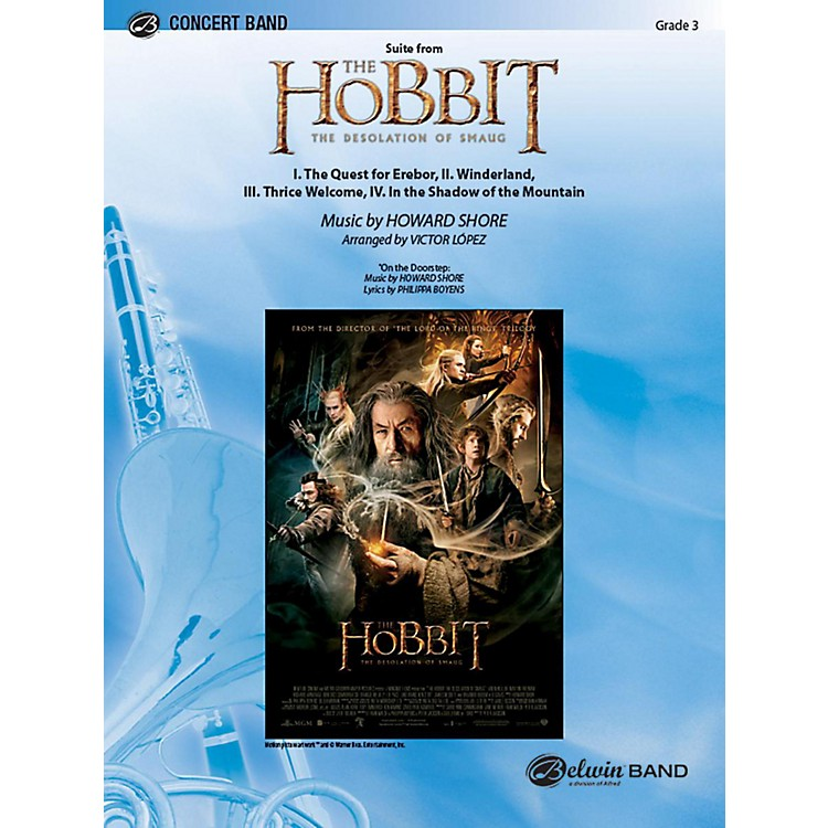 Alfred Suite from The Hobbit: The Desolation of Smaug Concert Band Grade 3.5 Set