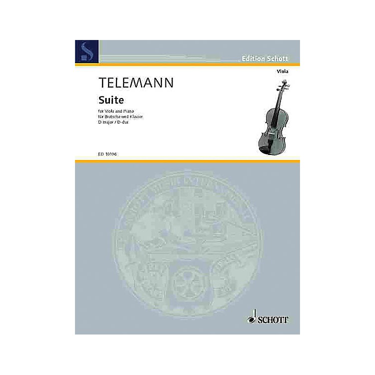 Schott Suite in D Major Schott Series Composed by Georg Philipp Telemann Arranged by Walter Bergmann