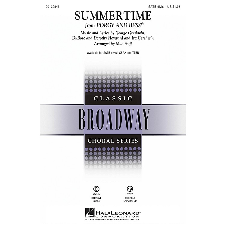 Hal LeonardSummertime (from Porgy and Bess) SSAA Arranged by Mac Huff