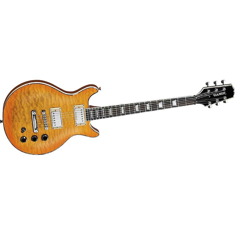 HamerSunburst Archtop Quilt Top Electric Guitar