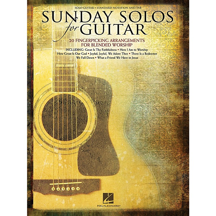 Hal Leonard Sunday Solos for Guitar (20 Fingerpicking Arrangements for Blended Worship) Guitar Solo Series Softcover