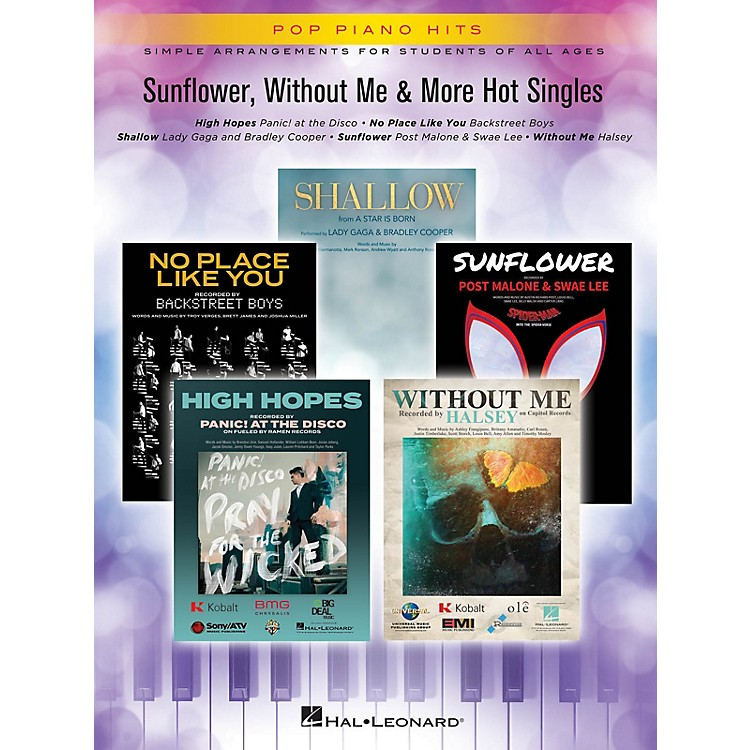 Hal Leonard Sunflower, Without Me & More Hot Singles Pop Piano Hits Series Softcover Performed by Various
