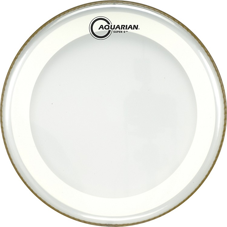 Aquarian Super-2 Clear Drumhead with SX Ring 14 In