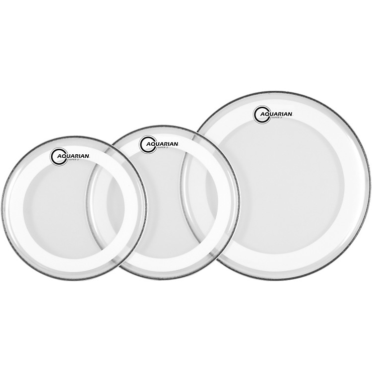 AquarianSuper-2 Drumheads with Studio-X Ring Rock Pack
