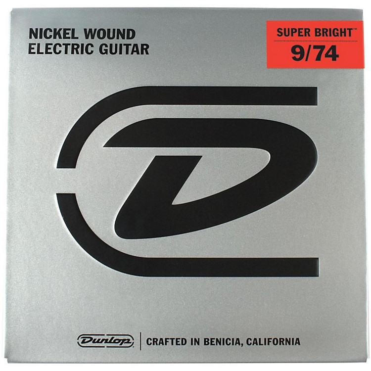 DunlopSuper Bright Nickel Wound 8-String Electric Guitar Strings (9-74)