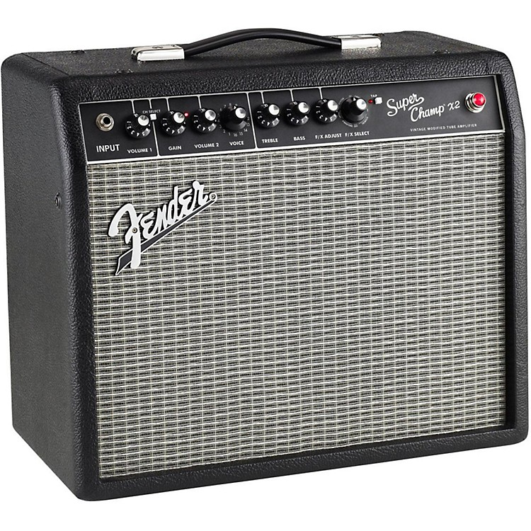 Fender Super-Champ X2 15W 1x10 Tube Guitar Combo Amp Black 886830701818
