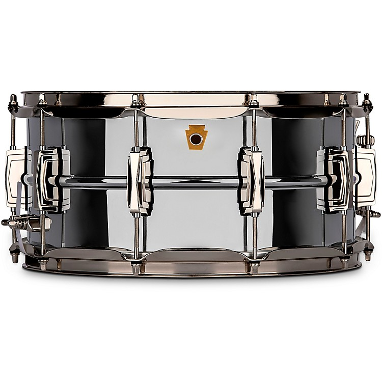 LudwigSuper Ludwig Chrome Brass Snare Drum with Nickel hardware14 x 6.5 in.