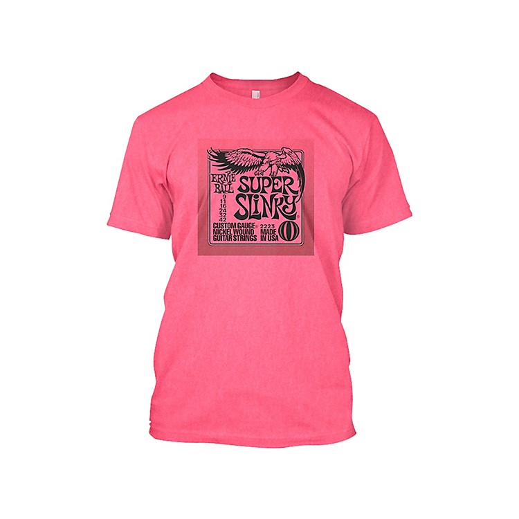 Ernie Ball Super Slinky T-Shirt Neon Pink Extra Large