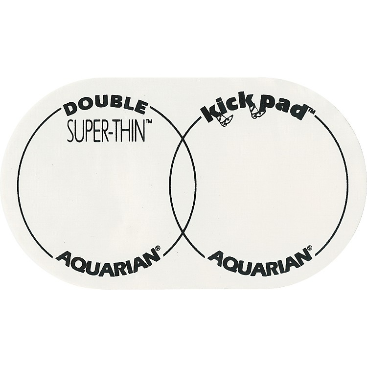Aquarian Super-Thin Double Bass Drum Kick Pad